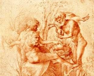 Molorchos making a sacrifice to Hercules — Андреа Мантенья