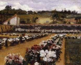 Monet's Formal Garden — Уиллард Меткалф