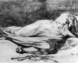 Монах за молитвой — Эжен Делакруа