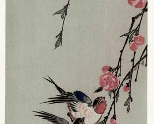 Moon, Swallows and Peach Blossoms — Хиросиге