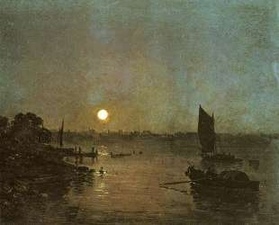 Moonlight, A Study at Millbank — Уильям Тёрнер