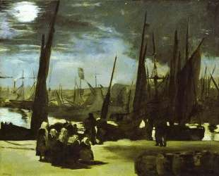 Moonlight on Boulogne Harbour — Эдуард Мане