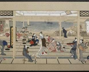 Moonlight Revelry at Dozo Sagami — Китагава Утамаро