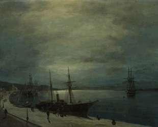 Moonlit harbour — Константинос Воланакис