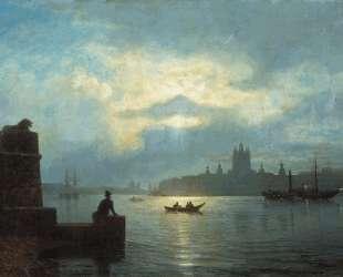 Moonlit night at Neva — Лев Лагорио