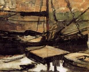 Пришвартованные лодки. Солнце — Пит Мондриан