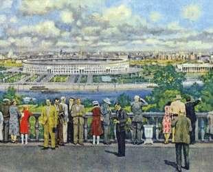 Moscow. View of the Lenin Stadium in Luzhniki — Константин Юон