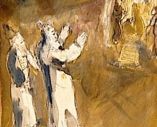 Моисей и Аарон перед Фараоном — Марк Шагал