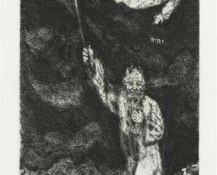 Моисей воцаряет тьму над Египтом (Исход, IX, 21 23) — Марк Шагал
