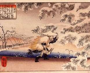 Moso hunting for bamboo shoots — Утагава Куниёси