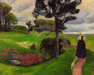 Mother and Child on a Breton Landscape — Поль Серюзье