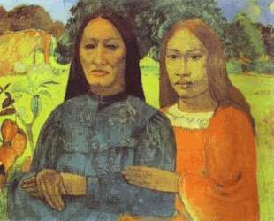 Мать и дочь — Поль Гоген