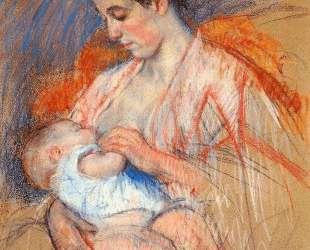 Мама Жанна кормит ребенка — Мэри Кассат