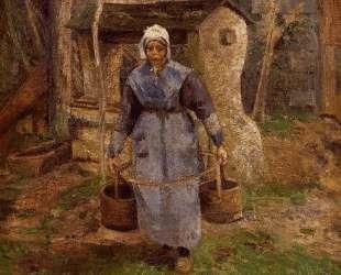 Mother Presle, Montfoucault — Камиль Писсарро