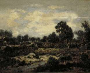 Mountain landscape near Fontainebleau — Теодор Руссо