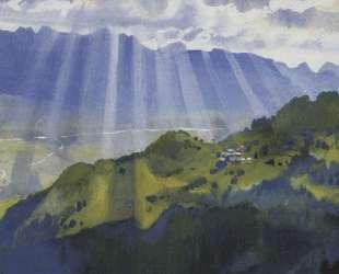 Горный пейзаж. Швейцария — Зинаида Серебрякова