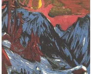 Mountains in Winter — Эрнст Людвиг Кирхнер