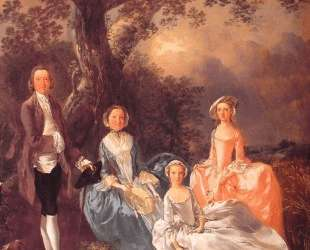 Mr. and Mrs. John Gravenor and their Daughters, Elizabeth and Ann — Томас Гейнсборо