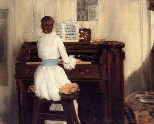 Mrs. Meigs at the Piano Organ — Уильям Меррит Чейз