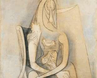 Mujer sentada — Вифредо Лам