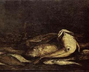 Mullet and Fish — Эжен Буден