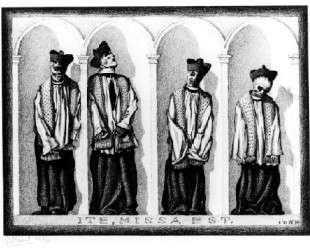 Mumified Priests in Gangi — Мауриц Корнелис Эшер