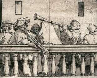 Musicians on a Balcony — Ганс Гольбейн Младший