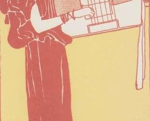 Musik (lithograph) — Густав Климт