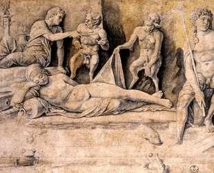 Mythological Scene, Metamorphoses of Amymone — Андреа Мантенья
