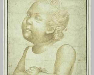 Обнаженный ребенок с середины тела со скрещенными руками — Паоло Уччелло