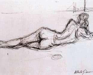 Naked Lying Back — Альберто Джакометти