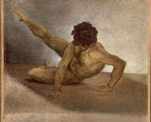 Naked man reversed on the ground — Теодор Жерико