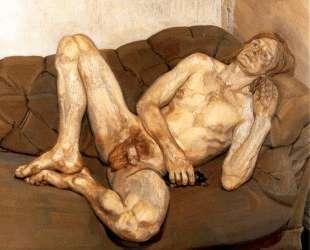 Обнаженный мужчина с крысой — Люсьен Фрейд