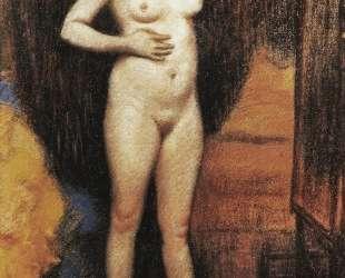 Naked woman in the mirror — Федерико Дзандоменеги