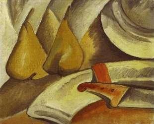 Салфетка, нож и груши — Жорж Брак