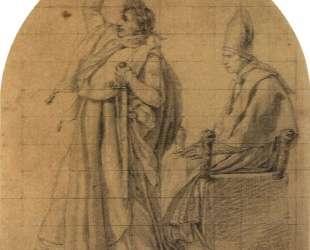 Наполеон держит корону Жозефины — Жак Луи Давид