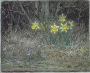 Нарциссы и фиалки — Жан-Франсуа Милле