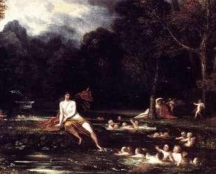 Narcissus and Echo — Бенджамин Уэст