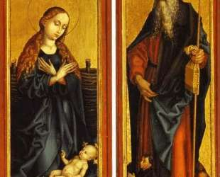 Nativity and St. Anthony — Мартин Шонгауэр