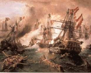 Naval battle at Lissa — Константинос Воланакис
