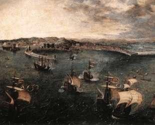 Морской бой в гавани Неаполя — Питер Брейгель Старший