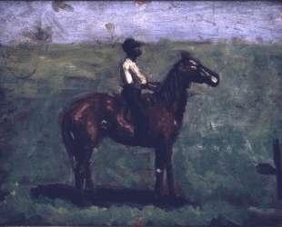 Negro boy on a bay horse — Томас Икинс