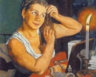 Night time. Portrait of the artist's wife Klavdiya Yuon — Константин Юон