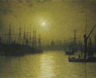 Nightfall on the Thames — Джон Эткинсон Гримшоу