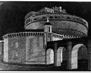 Nocturnal Rome, Castel Sant' Angelo — Мауриц Корнелис Эшер