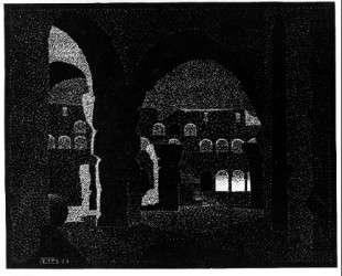Nocturnal Rome, Colosseum — Мауриц Корнелис Эшер