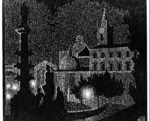 Nocturnal Rome, Santa Maria del Popolo — Мауриц Корнелис Эшер