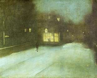 Nocturne in Grey and Gold: Chelsea Snow — Джеймс Эббот Макнил Уистлер