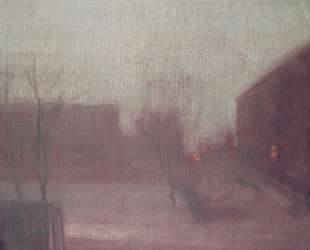 Nocturne Trafalgar Square Chelsea Snow — Джеймс Эббот Макнил Уистлер