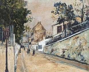 Norvins street near Montmartre — Морис Утрилло